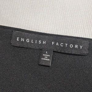 English Factory Pants - English Factory T-Back Deep V Jumpsuit